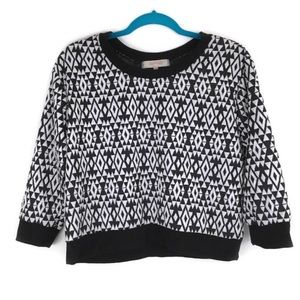 Almost Famous Geometric Print Moderate Crop Top
